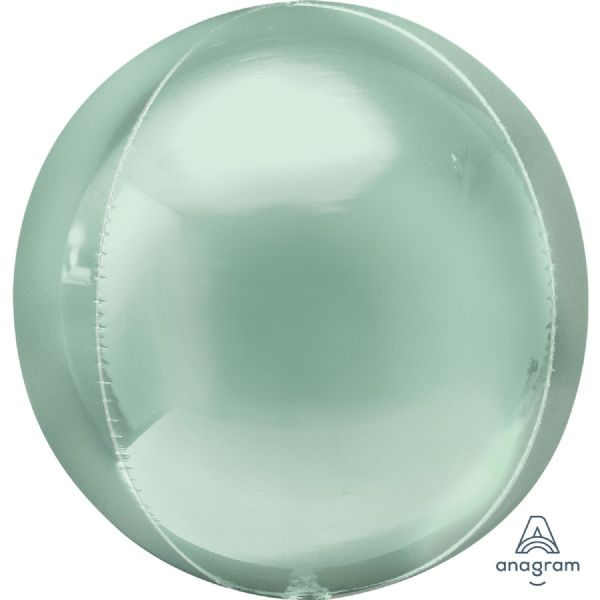 Mint Green Round Orbz 15in Balloon